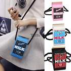 Popular Girls Peculiar Canvas Shoulder Bag Women Milk Cartons Crossbody Bags 6L