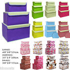 NEW Designer Case With Lid Fabric Boxes Flower Organiser Wardrobe Storage Box