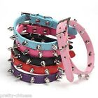 Pet Dog Puppy Cat Rivet Spiked Studded Neck Strap PU Leather Buckle Collar New