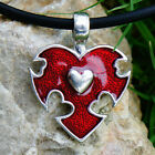 Gothic Red Heart Love Friendship Peace Harmony Hearts Valentine Pewter Pendant