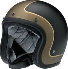 Biltwell Bonanza Tracker Black Gold 3/4 Motorcycle Riding Helmet