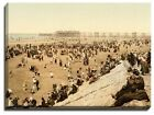 Canvas Print Of blackpool, the beach with north pier