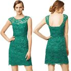 Hot Sale Women Fashion Sexy Lace Dress O-Neck Sleeveless Backless Package Hip