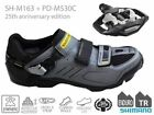 SHIMANO SH-M163 SPD SHOES MTB inc. PD-M530 *25th ANNIVERSARY*