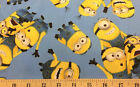 Minions Blue Despicable Me Blue Cotton Fabric BTY HY t6/36