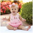 Mud Pie Baby Girls Pink Rosebud Collection Tutu Bubble Set 1132235 Floral Print