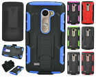 For Cricket LG Risio COMBO Belt Clip Holster Case Phone Cover Kick Stand