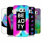 HEAD CASE DESIGNS PRINTED RAINBOW SLICK HARD BACK CASE FOR SAMSUNG PHONES 1