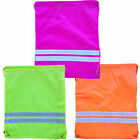 Euro Hi Vis Drawstring Gymsac Swimming PE Football Athletics Kit Bag