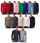 Next Level - Men's Premium Long Sleeve Crew T-Shirt Basic Plain Athletic L/S Tee image