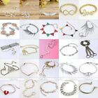 Various Fashion Silver Gold Link Chain Bracelet Bangle Finger Ring Set Jewelry