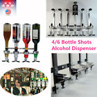 Bar Butler 4/6 bottles Wall Mounted Wine Alcohol Liquor Shot Dispenser Wine USA