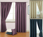 "Interlined Luxury Textured Jacquard 3"" Tape Top Pair Of Curtain Drapes"