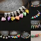 5mm Colorful Hole Dangle European Bead Crystal Enamel Mixed Style DIY Charms Lot