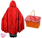 RED RIDING HOOD COSTUME CAPE AND BASKET SCHOOL BOOK WEEK FANCY DRESS COSTUME