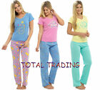 ladies summer pyjamas 100%  cotton blend fun Designs short sleeve long designs