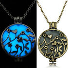 Fashion Glowing Punk Magic Locket Women Love Glow In The Dark Necklace Pendant