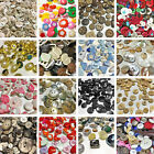 Assorted Buttons Sewing Knitting Coconut Shell Plastic Flat Shank Colour Beads