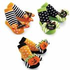 Mud Pie Baby Girl Bow Toe Halloween Cat Pumpkin and Hat Socks 0-12M 154A009