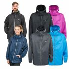 Trespass Packup Women Mens Waterproof Jacket in Black Navy Grey & Purple