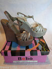 LADIES DESIGNER BEBO WEDGE SHOES SPARKLY GLITTER NIGHT OUT HIGH HEELS BNIB NEW