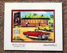 PINK ELEPHANT DRIVE-IN ART PRINT Seekonk Car Hop Diner 1964 GTO Hot Rod Cars MA