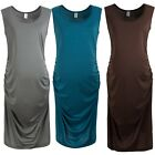 New Maternity Women Soft Sleeveless Crew Neck Pregnancy Tunic Shift Joker Dress