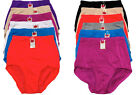 Lot 6 12 Hi-Cut Women's PLUS Size Nylon Briefs Panties Girdle #349 S M L XL 2X