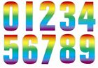 High Visible Rainbow Wheelie Bin Self Adhesive Number Sticker Home Dustbins Cafe