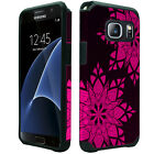 Samsung Galaxy S7 EDGE HARD Hybrid Rubber Silicone Case Phone Cover Accessory