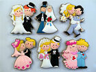 KAILIZ Happy Wedding Cake Topper Just Got Married Soft Fridge Magnets UK Stock