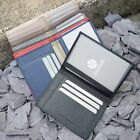 Mens Womens Genuine Leather Thin Wallet Quality Simple Slim Credit Card Holder