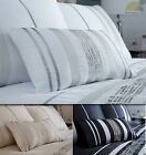 Modern Sequin Oblong Filled Boudoir Cushions in White Beige or Black New