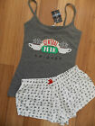 Friends Central Perk Ladies Pyjamas Primark Cami Vest Shorts