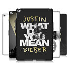 OFFICIAL JUSTIN BIEBER BLACK AND WHITE HARD BACK CASE FOR APPLE iPAD