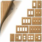 Wall Switch Plate Cover Light Oak Wood Outlet Toggle Outlet Decora Rocker NEW