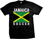 Jamaica Soccer Distressed Country Flag - Jamaican Pride Mens T-shirt