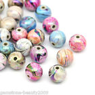 Wholesale Lots DIY Jewelry Spacer Beads Acrylic Ball Mixed 8mm