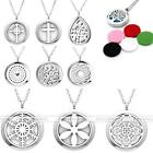 Stainless Steel Perfume Oil Diffuser Aromatherapy Essential Pendant Necklace