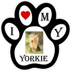 Yorkie Dog Paw Decal / Sticker