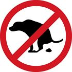 No Dog Poop Decal Bumper Sticker