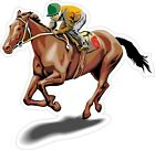 Race Horse Decal Bumper Sticker