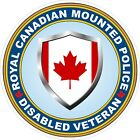 Royal Canadian Mounted Police RCMP Disabled Veteran Vet Decals / Stickers