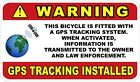 GPS Tracking For Bicycle Decals / Stickers