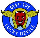 US Air Force USAF614th Tactical Fighter Sq. Lucky Devils Decal / Sticker