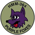 USMC Marine Corps HMM 364 Purple Foxes Unit Decal / Sticker
