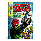 iCanvas Marvel Comic Book Captain America Issue Cover #115 Graphic Art on Canvas