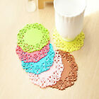 6 X Silica Gel Heat Insulation Coffee Cup Mat, 6PCS Hot Tea Silicone Coaster Pad