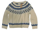 Ralph Lauren Womens Denim & Supply Cream Wool Knit Crewneck Sweater New L