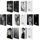 JUSTIN BIEBER BLACK AND WHITE LEATHER BOOK CASE FOR SAMSUNG GALAXY TABLETS